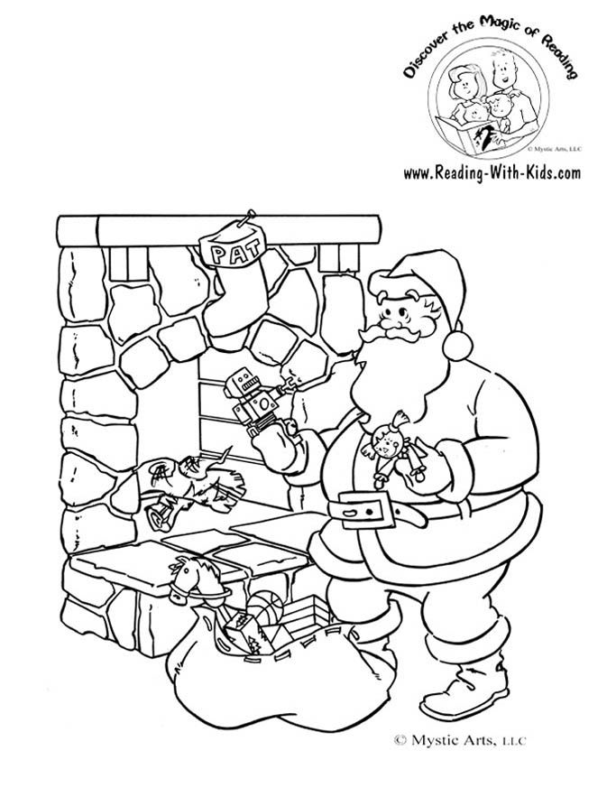 Twas the nifgt before christmas coloring pages coloring home for The night before christmas coloring pages