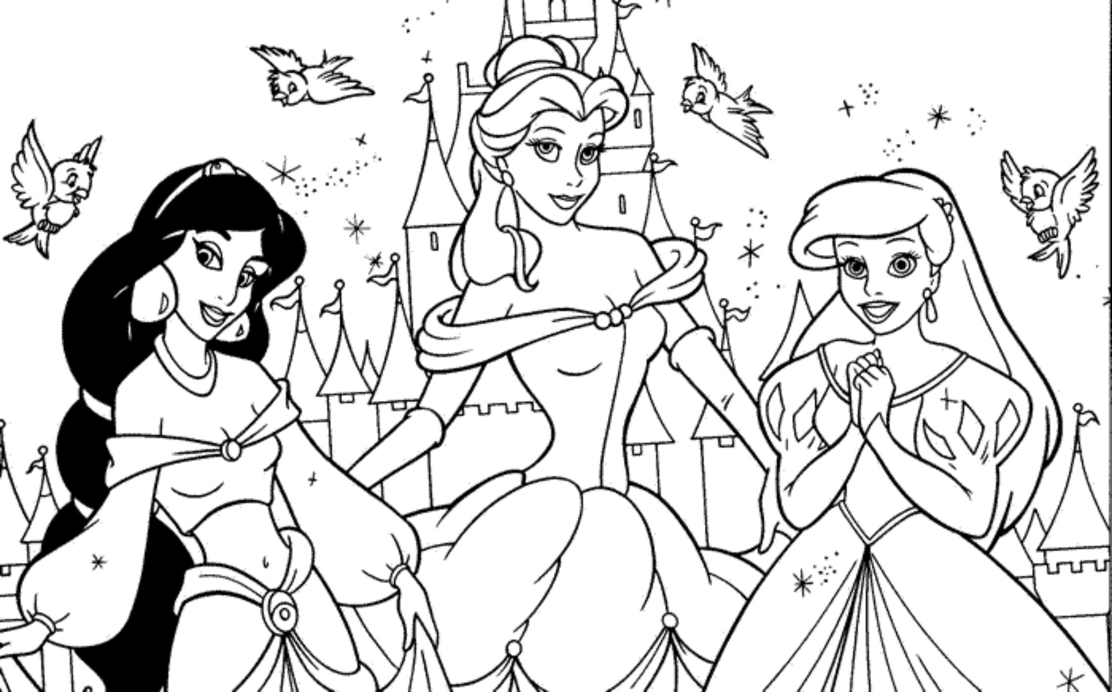 Amazoncom princess coloring pages
