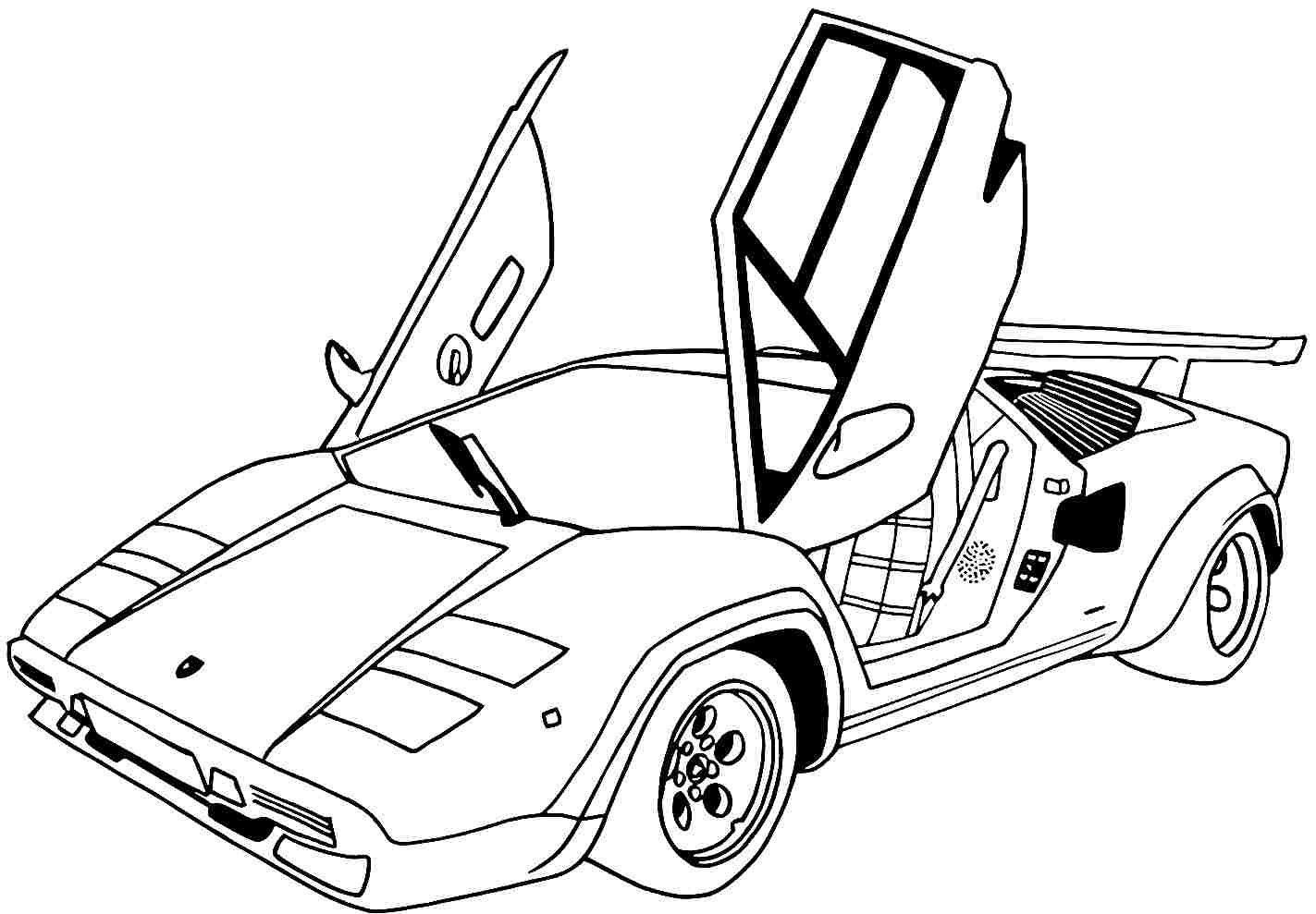 Printable coloring pages of sports cars coloring home for Free cars coloring pages to print