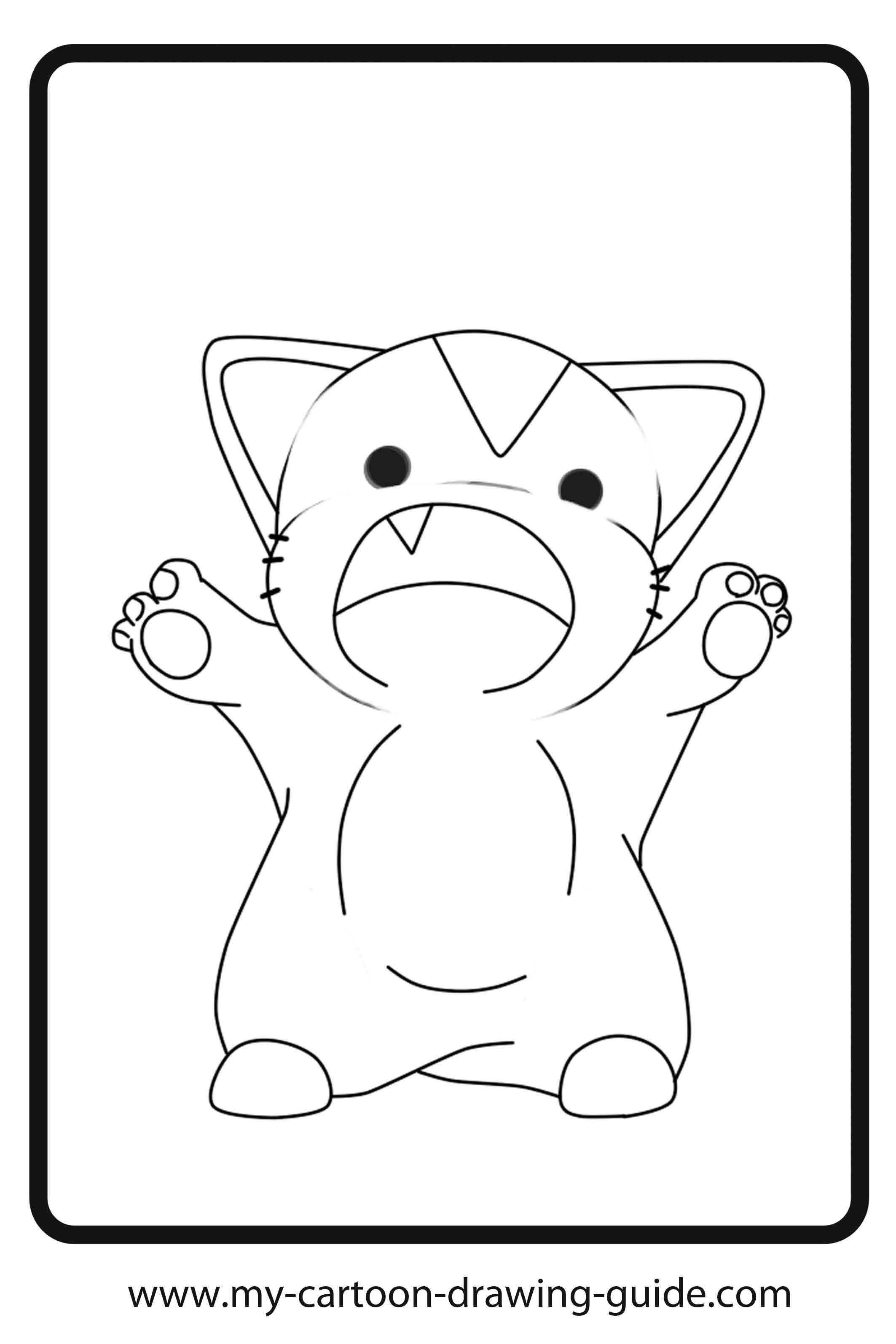 Anime kittens coloring pages ~ Anime Cat Girl Coloring Pages - Coloring Home