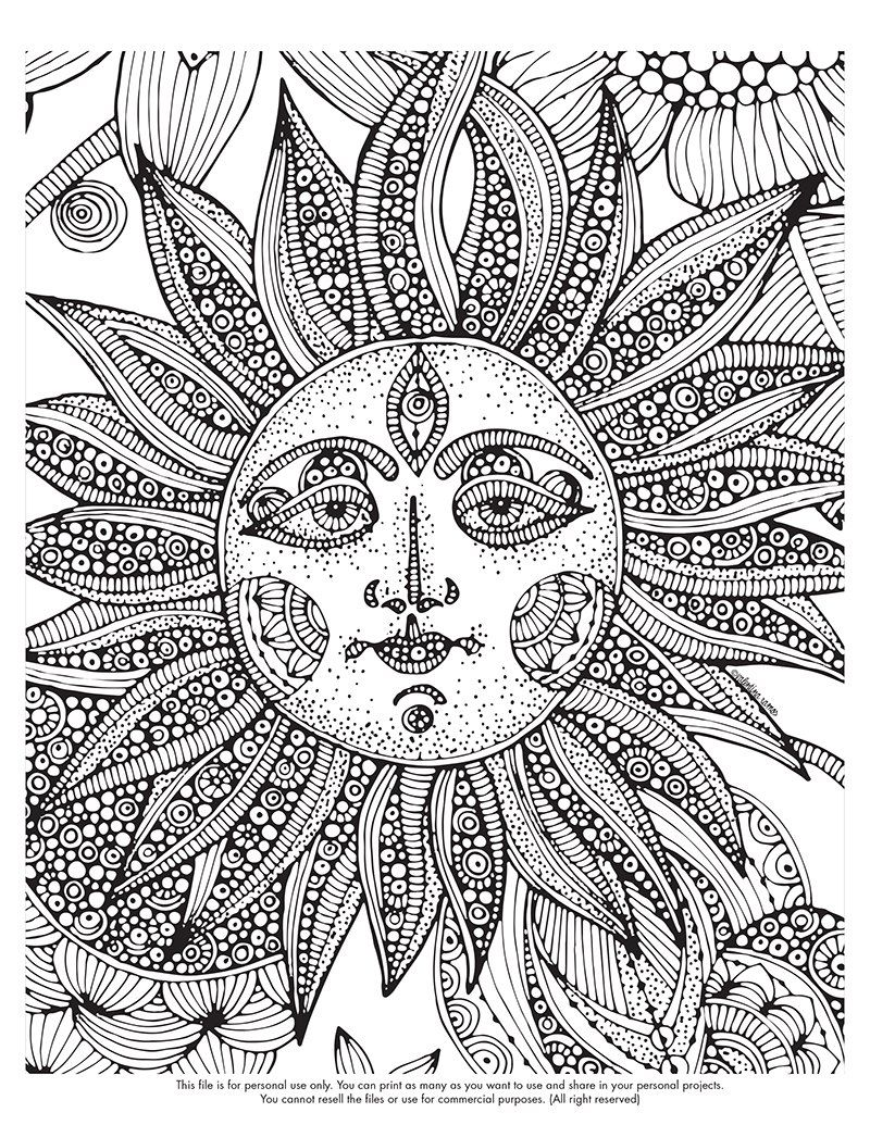 difficult coloring page coloring pages for kids and for adults