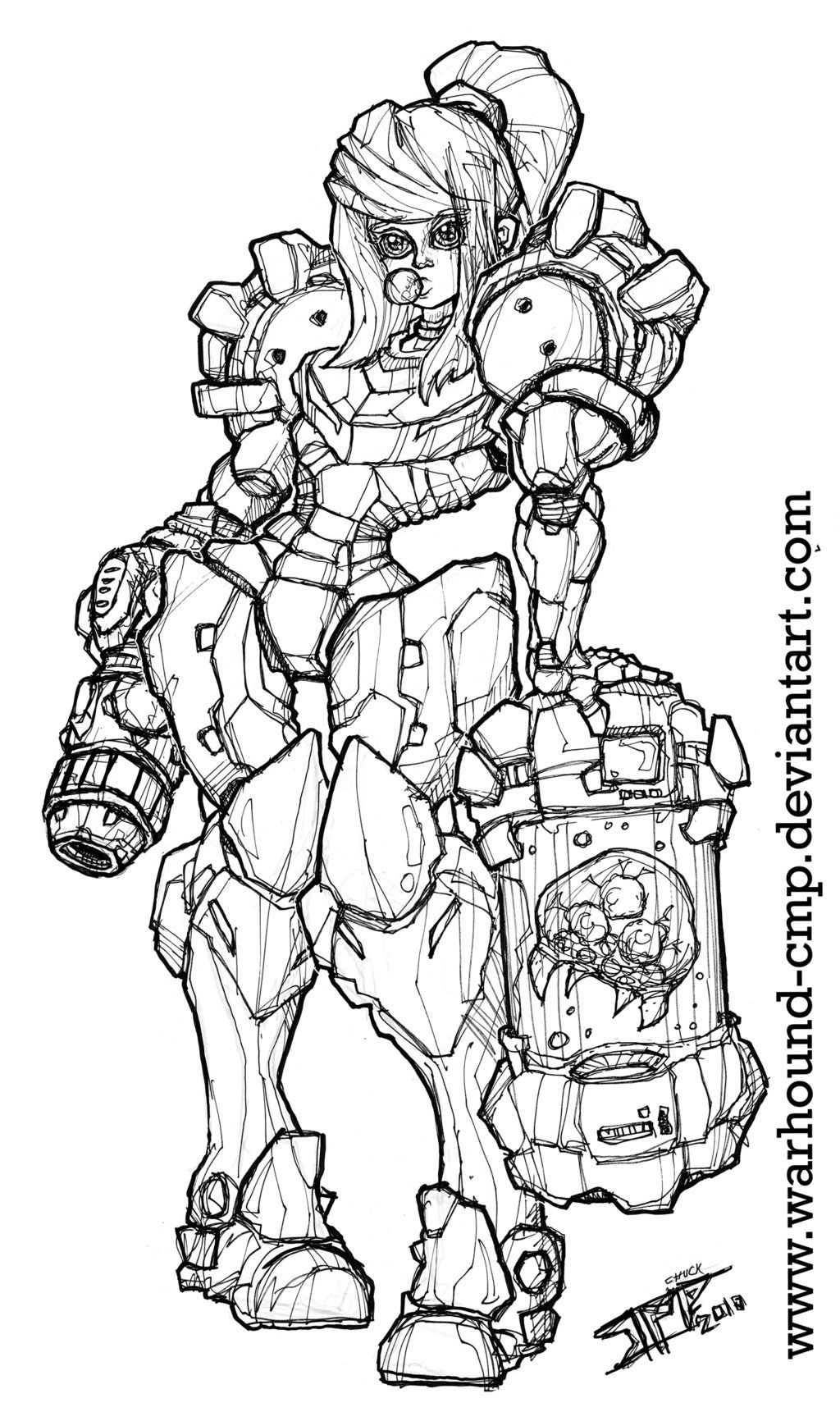 SAMUS Metroid INKS 07282010 by Warhound-CMP on DeviantArt