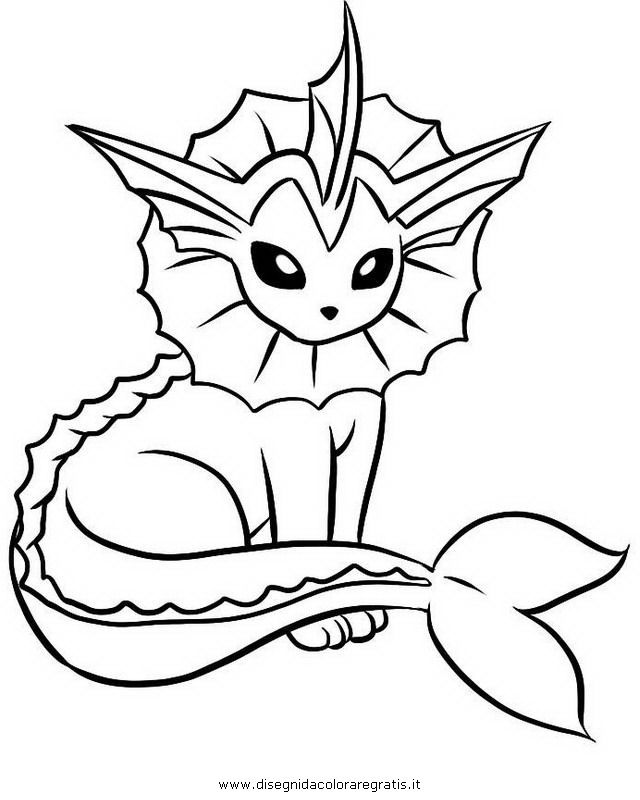 pokemon vaporeon coloring pages - photo#7