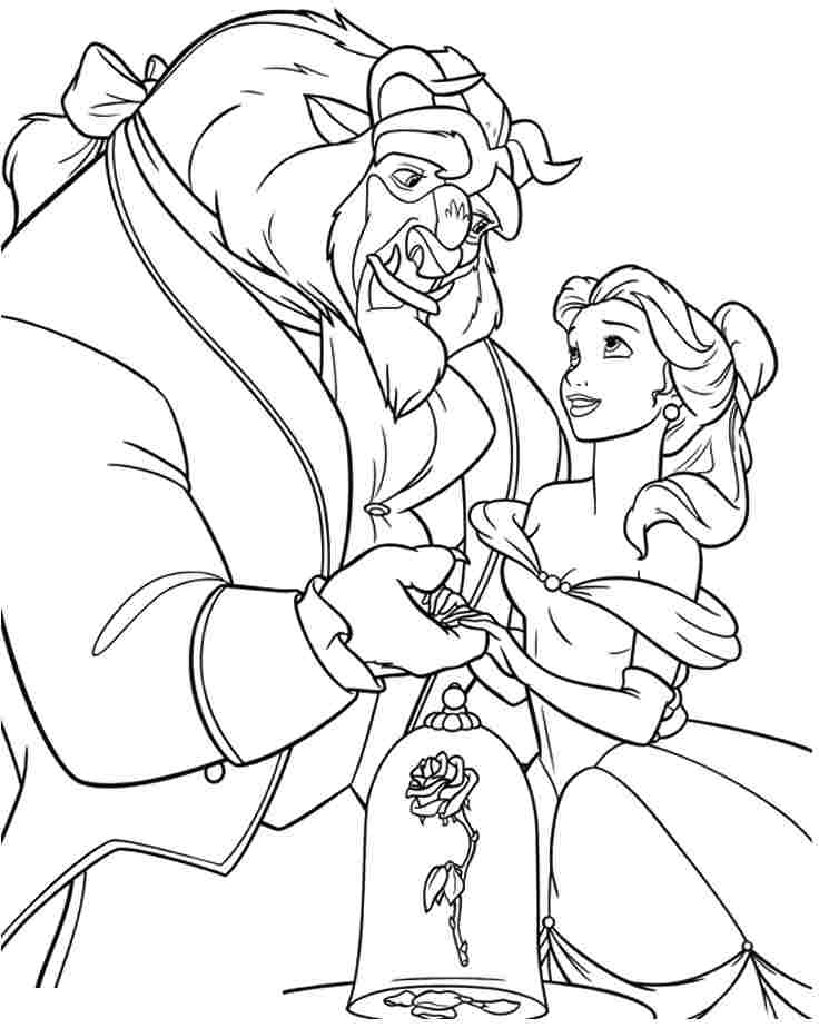 beauty and the beast coloring pages and book uniquecoloringpages