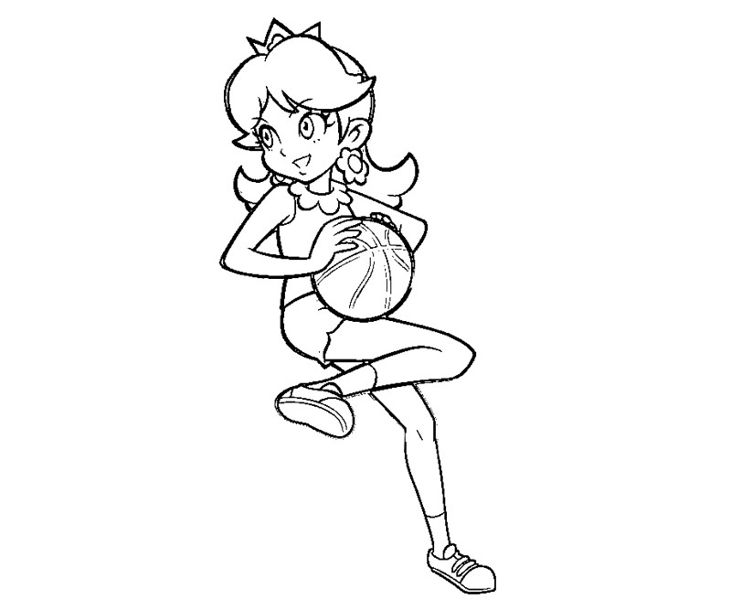 princess daisy coloring pages az coloring pages