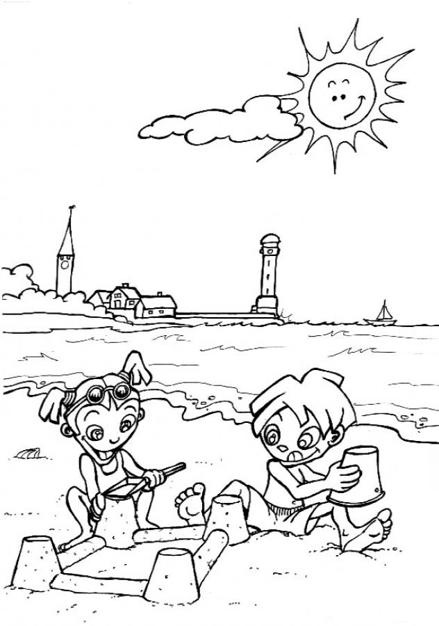 Download Playing Sand Preschool Coloring Pages Summer Fun Or Print