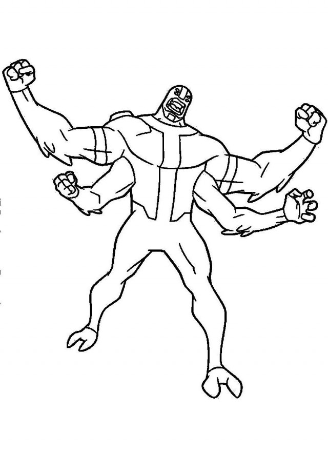 Color ben10 az coloring pages for Coloring pages of ben 10 aliens
