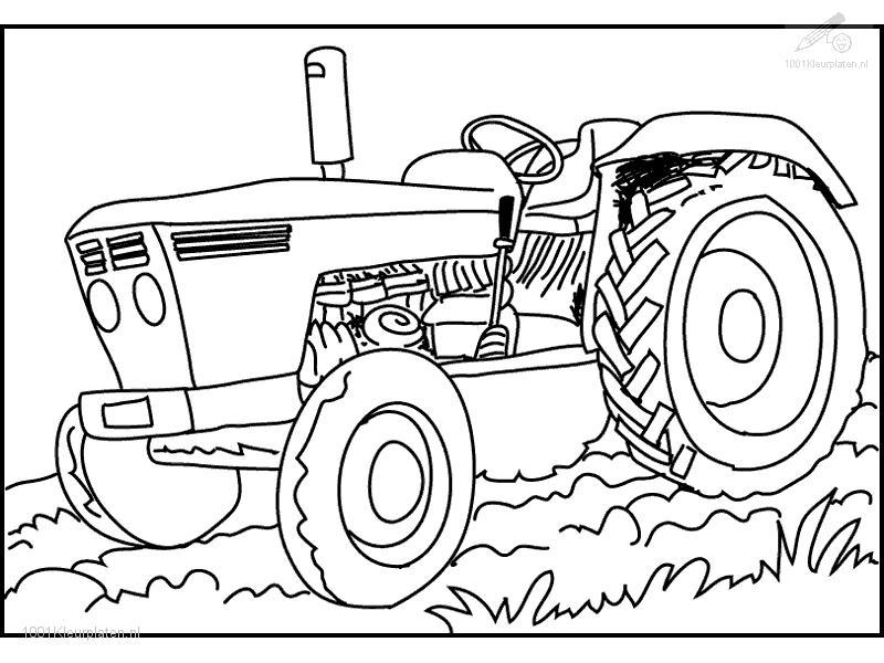 Tractor Coloring Pages To Print Coloring Home