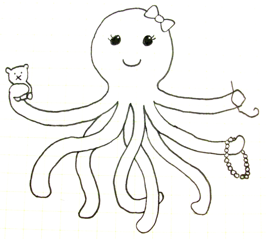 Cute octopus pictures az coloring pages for Octopus drawing easy