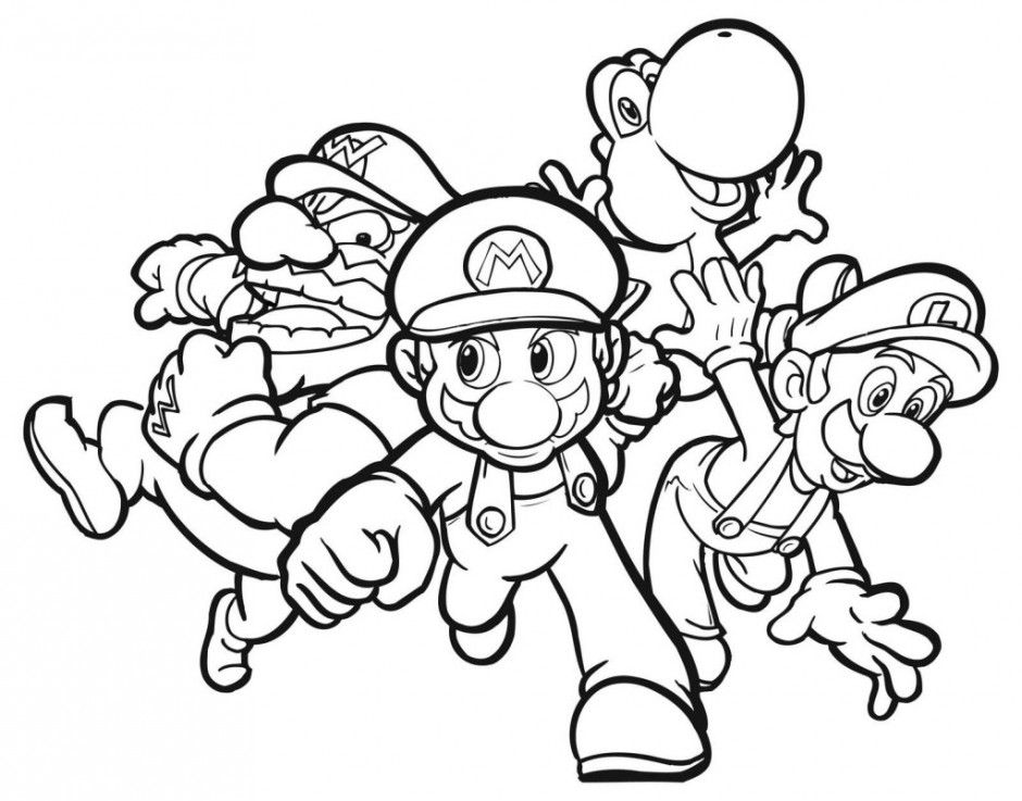 Free Super Mario Brothers Coloring Pages Tattoo Page Hagio Graphic