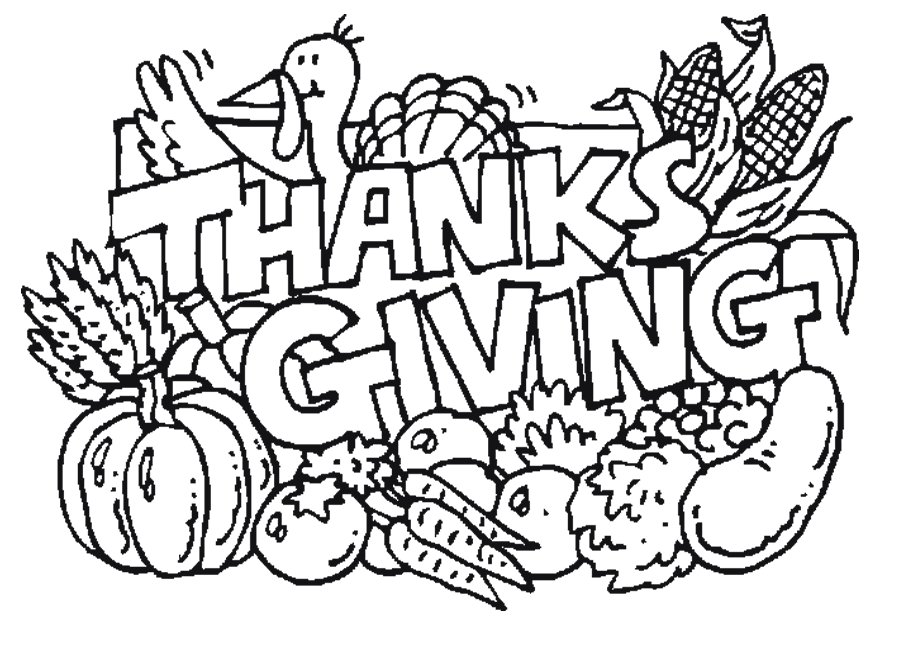 Thanksgiving Pictures To Color And Print Free | Other | Kids