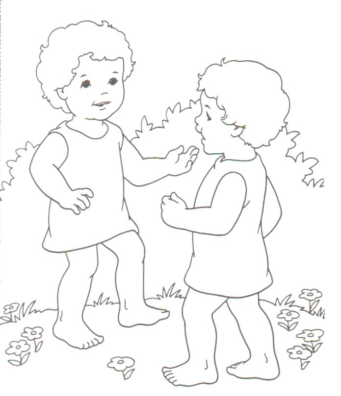 jacob meets esau coloring pages - photo#19