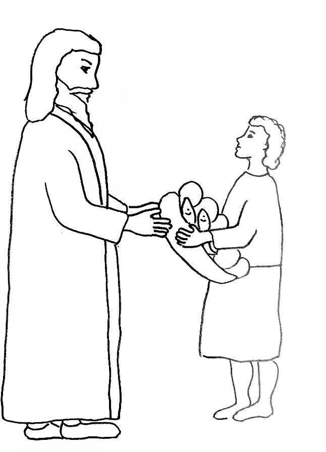 Feeding the five thousand coloring pages az coloring pages for Feeding the five thousand coloring pages