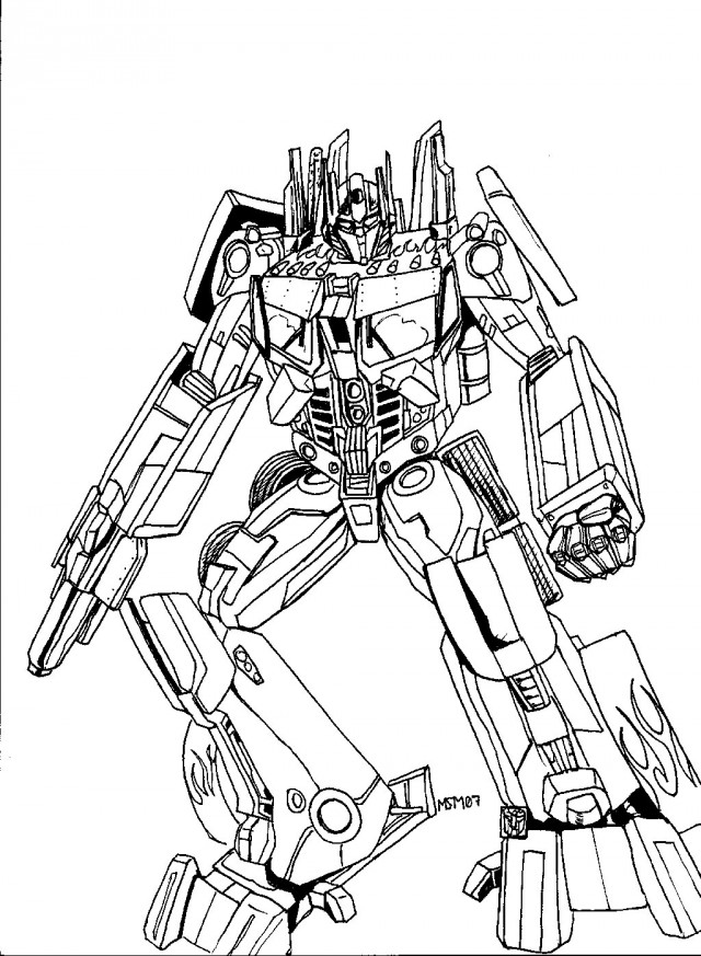 transformer optimus prime coloring pages - photo#22