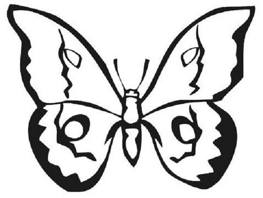 Butterfly coloring pages for adults printable coloring for Butterfly coloring pages pdf