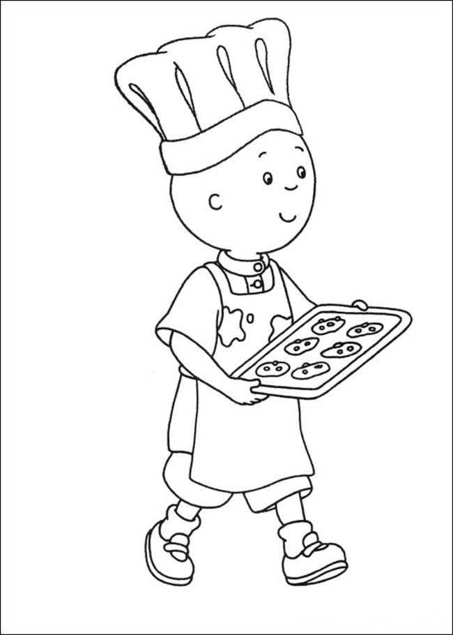 Caillou Coloring Pages Online - Picture 23 – Free Printable