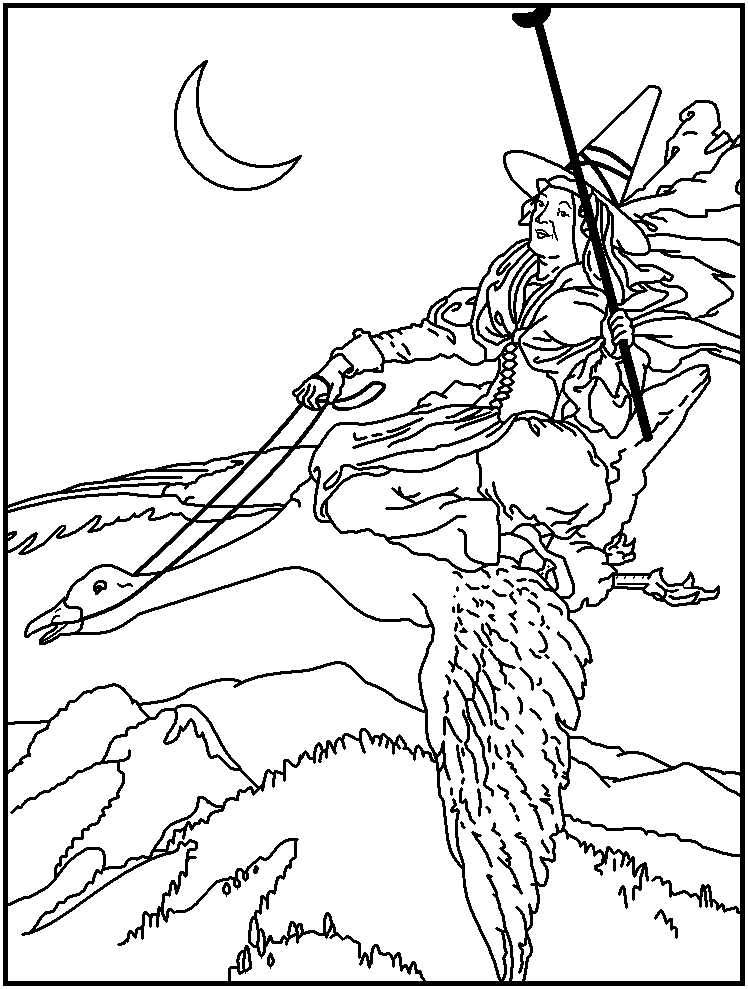 mothergoose coloring pages - photo#13