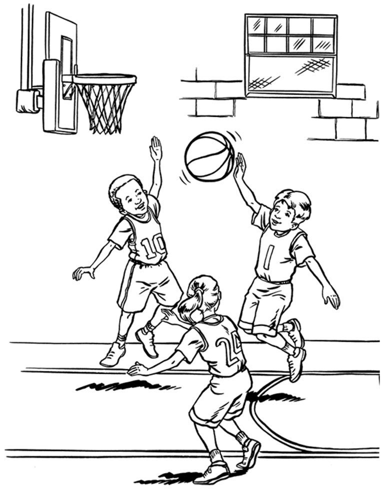 Basketball coloring book pages coloring home for Printable basketball coloring pages