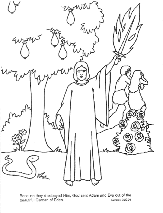 Garden of Eden Coloring pages Free Printable Download | Coloring