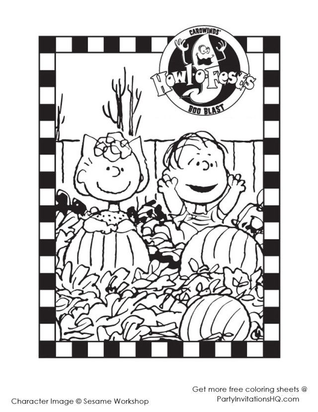 Funny Charlie Brown Halloween Coloring Pages | Laptopezine.
