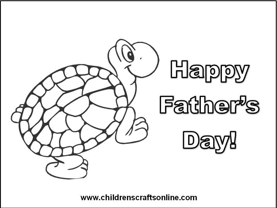 Free Printable Fathers Day Cards For Kids To Color