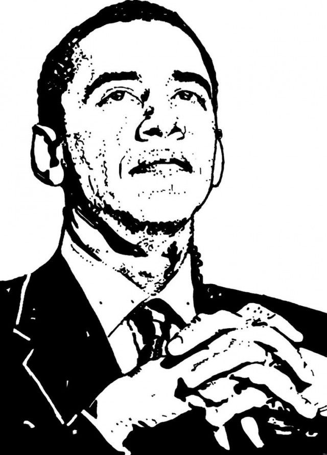 Barack Obama Coloring Pages For Kids Coloring Home