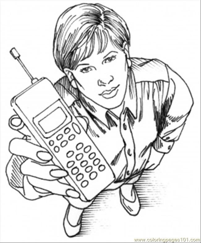 phone room coloring pages - photo#16
