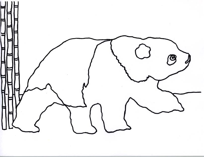 printable giant panda coloring pages - photo#21