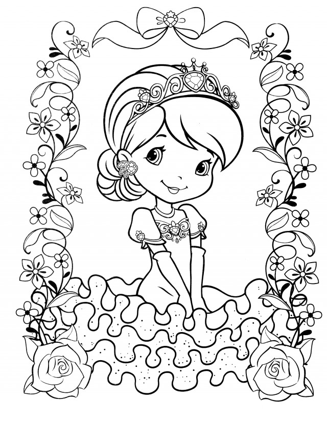 strawberry shortcake coloring pages online - photo#11