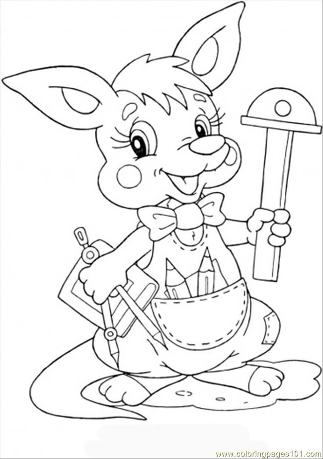 Baby Kangaroo Coloring Pages Coloring Home