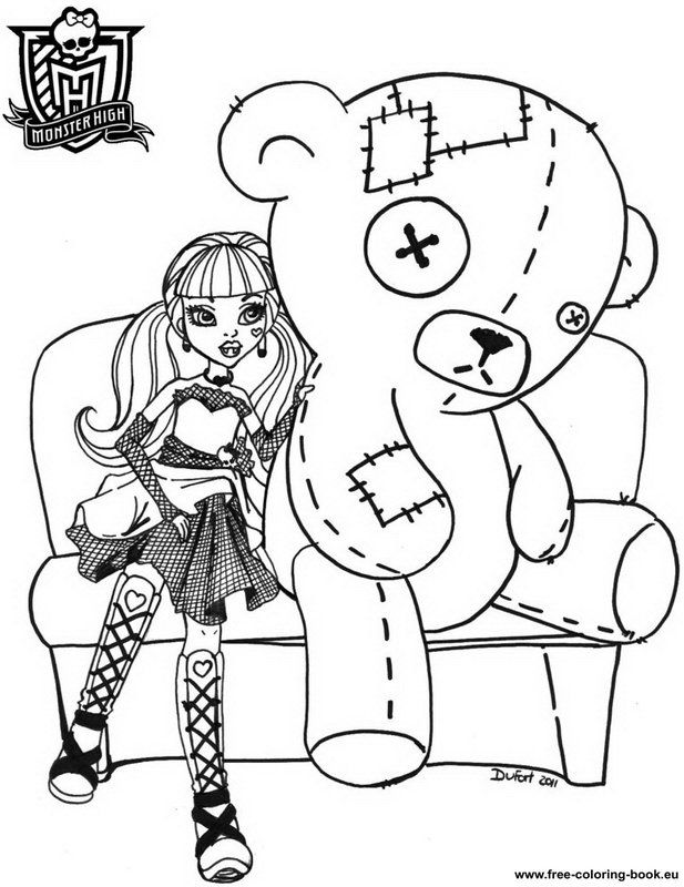 Coloring Pages For Monster High  Coloring Home