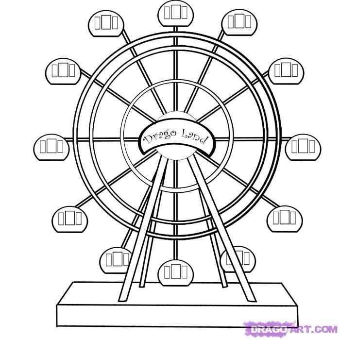 Color Wheel Coloring Page Ferris Wheel Coloring Pages