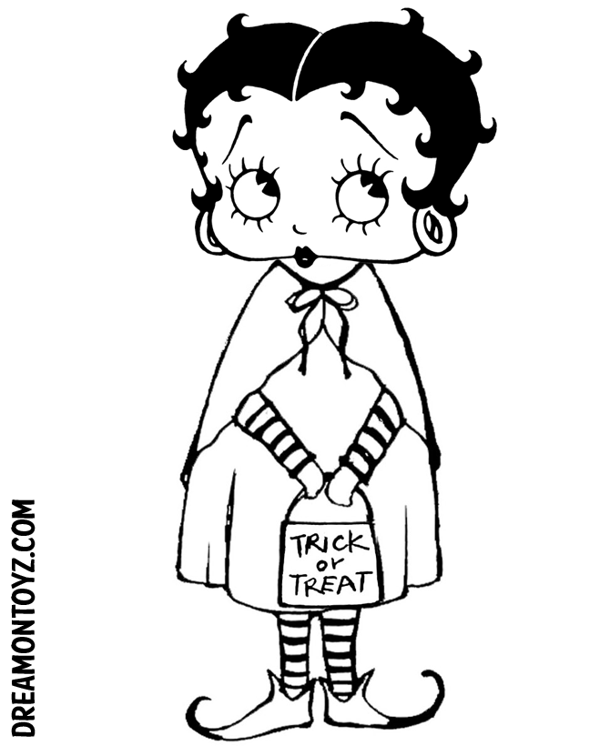 coloring pages betty boop coloring home