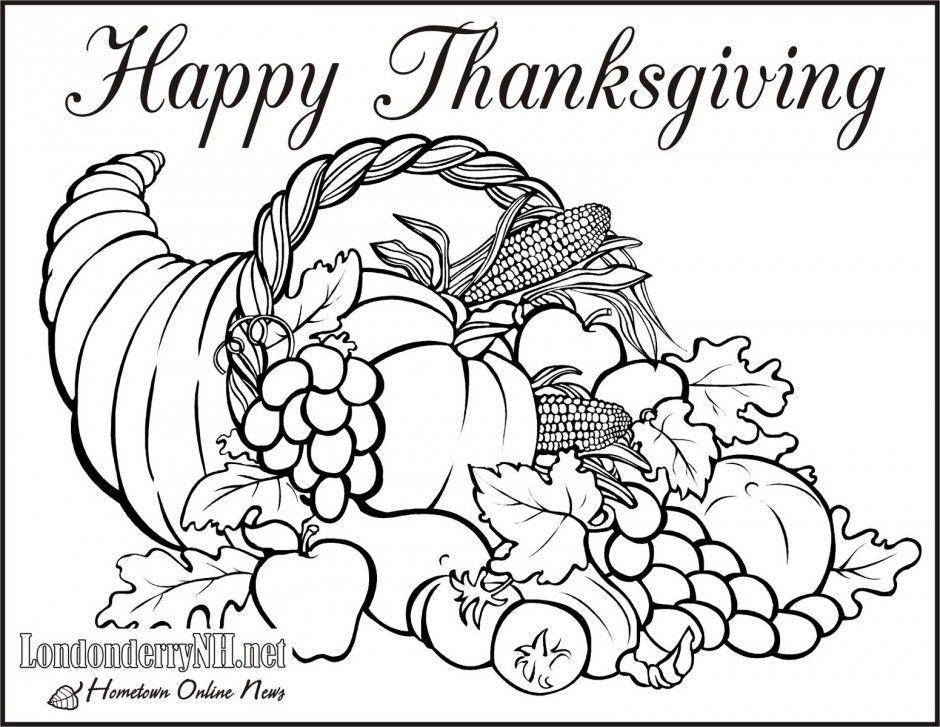 Thanksgiving cornucopia coloring pages coloring home for Cornucopia coloring pages printable