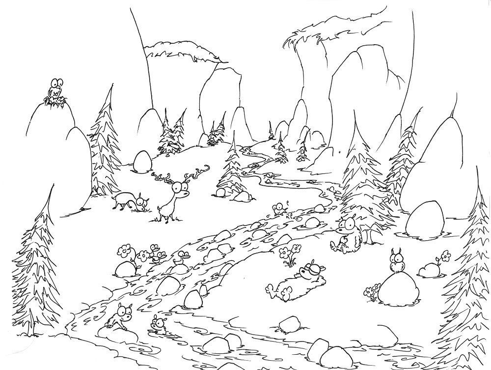 forest coloring pages - photo#5