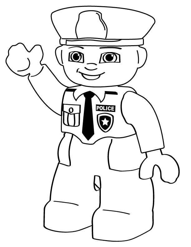 police pages coloring pages - photo#16