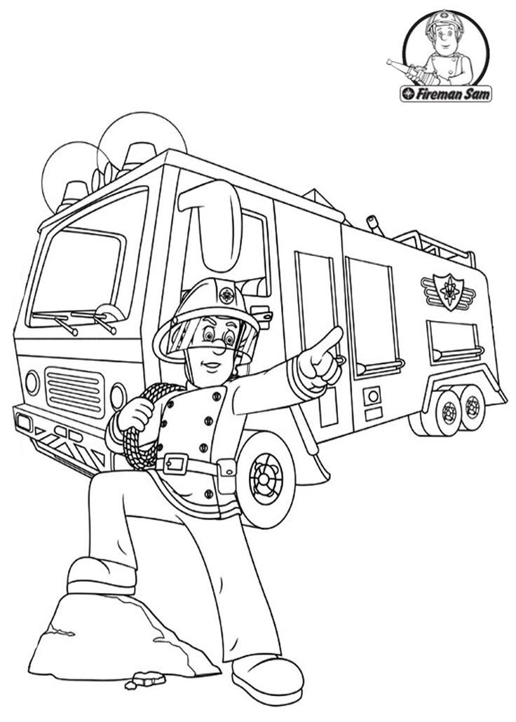 Fireman Sam Coloring Pages Coloring Home