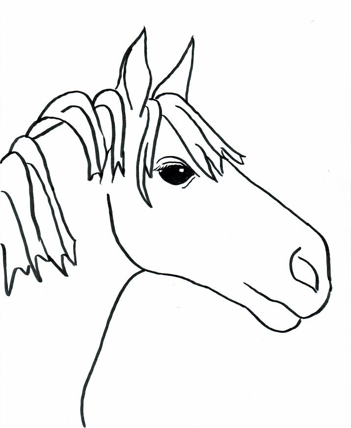 simple horse drawings for kids images pictures becuo - Simple Drawing For Kid