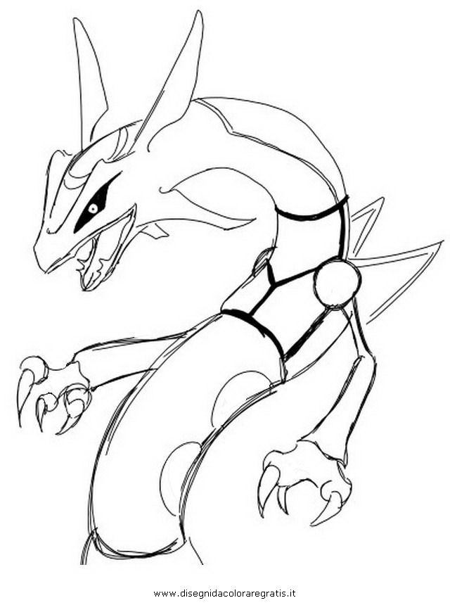 Rayquaza pokemon Colouring Pages (page 2)