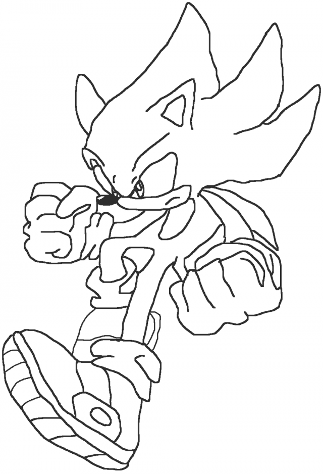 gold sonic coloring pages - photo#40