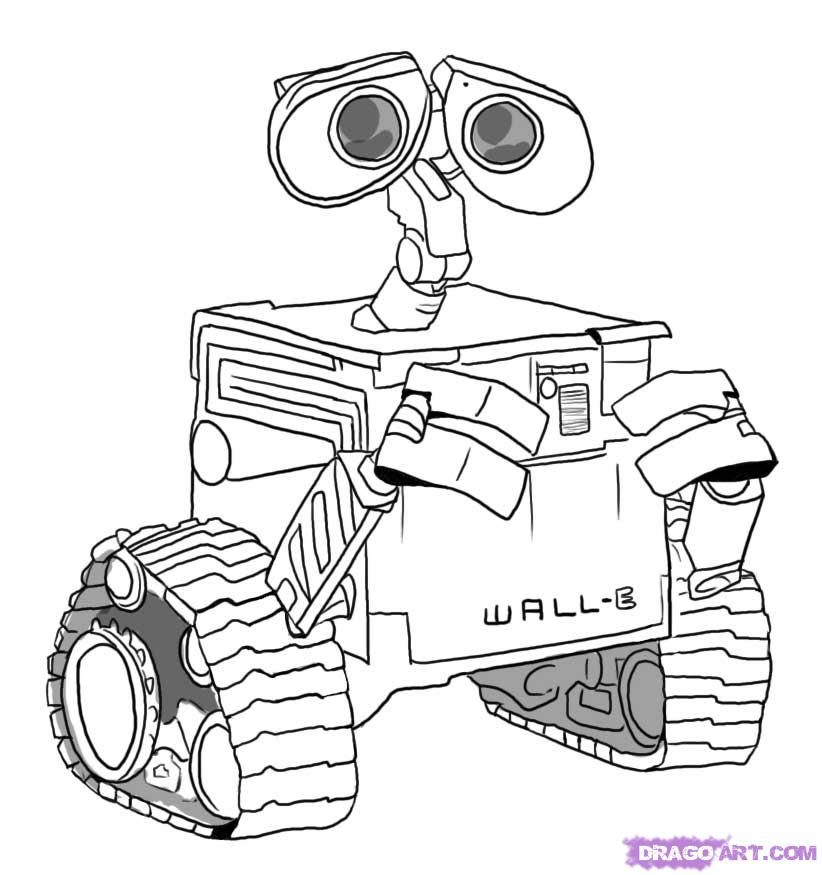 Wall-e And Eve Coloring Pages - Coloring Home