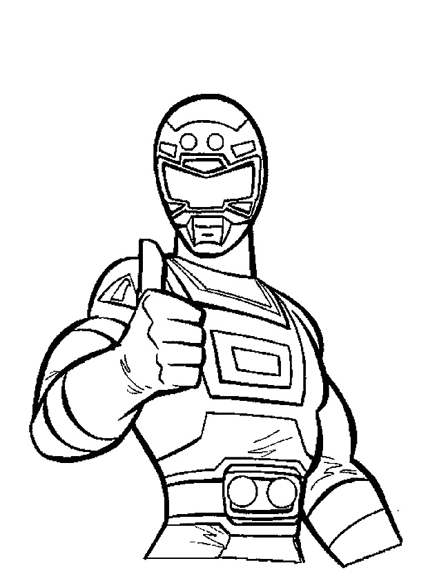 red power rangers coloring pages - photo#26