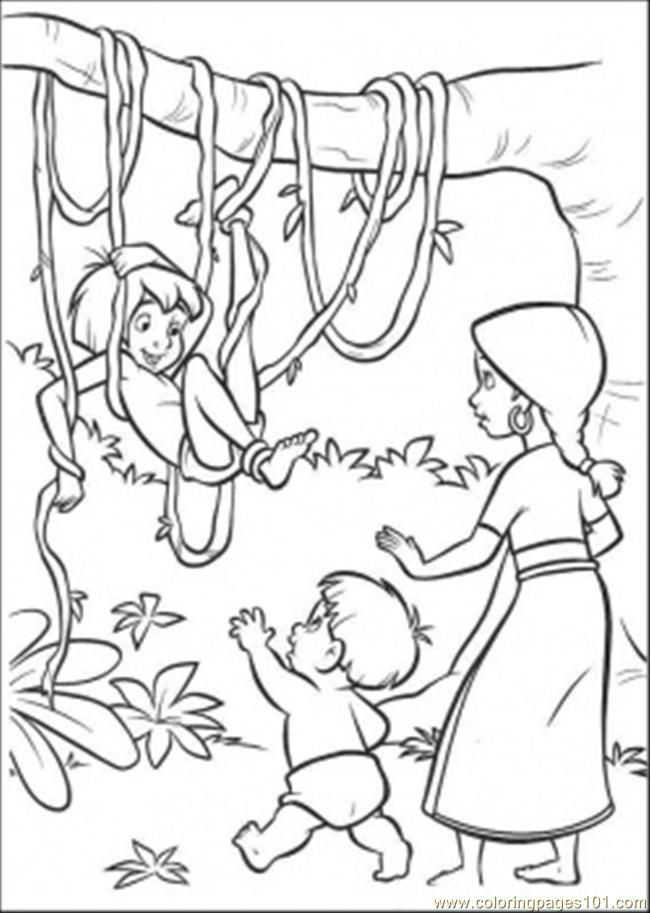Coloring Pages Jungle (Natural World > Forest) - free printable