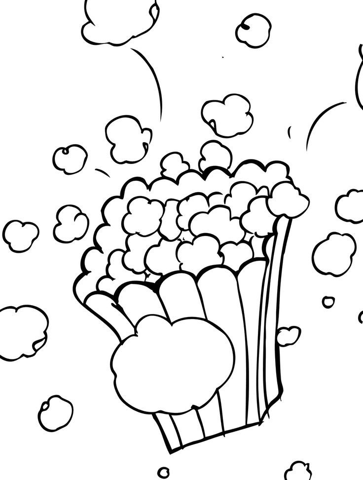 popcorn coloring sheet coloring home