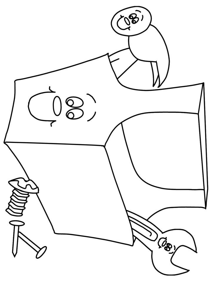construction signs coloring pages - Construction Signs Coloring Pages