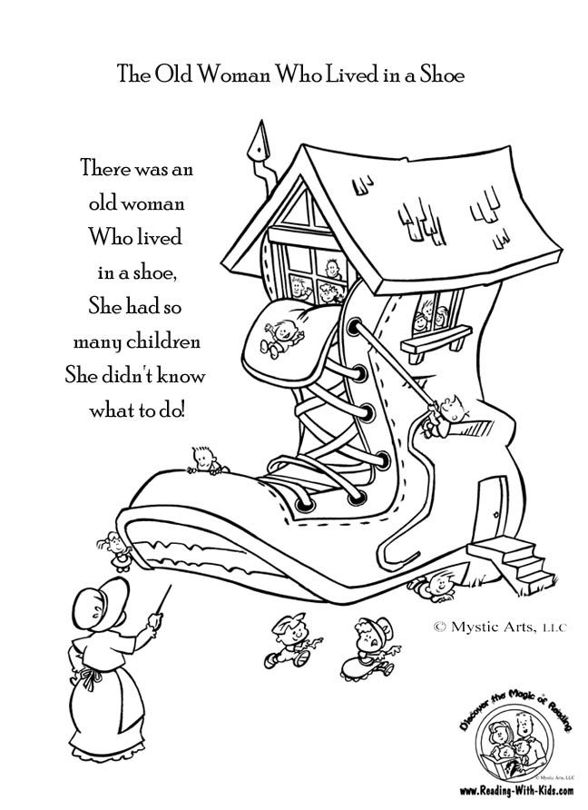 Nursery Rhyme Coloring Pages Pdf : Mother goose coloring pages home