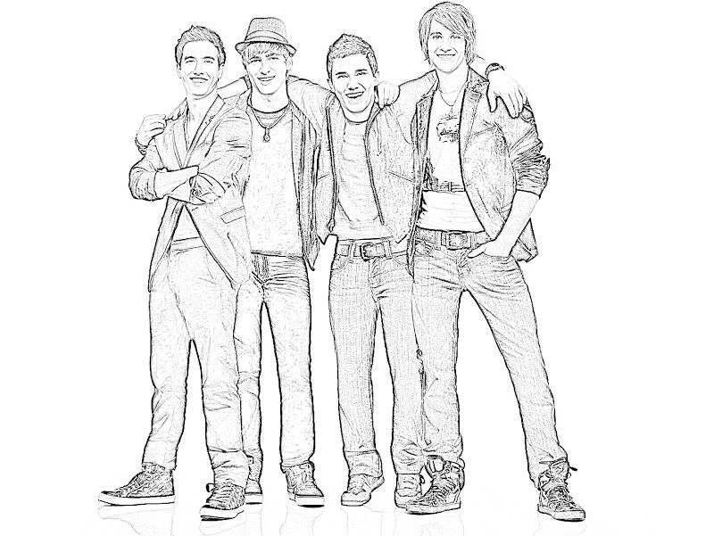 big time rush coloring pages - photo#6