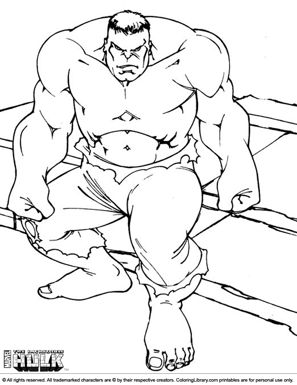 Hulk Smash Coloring Pages - Coloring Home