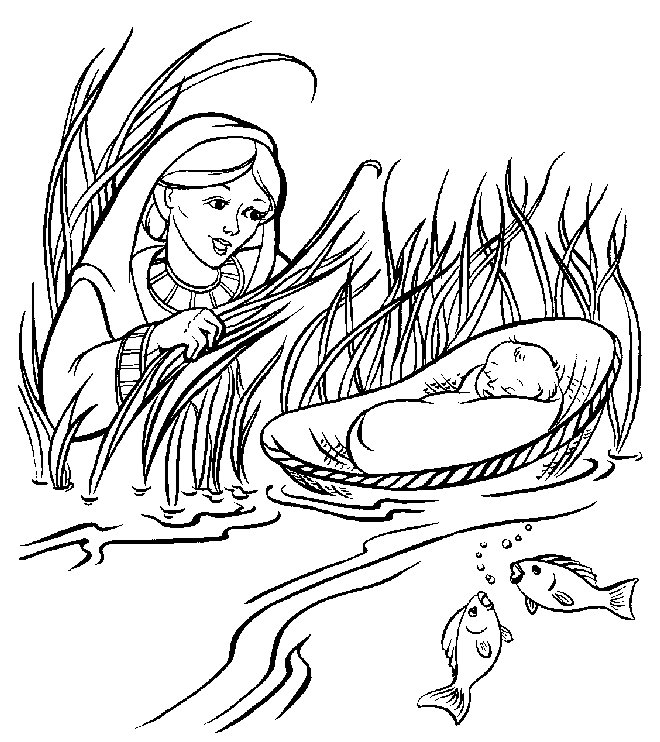 Moses Coloring Pages For Kids AZ Coloring Pages