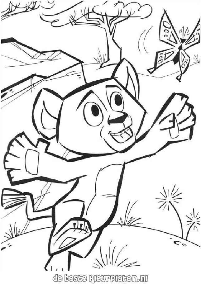 coloring pages of madagascar 2 - photo#9